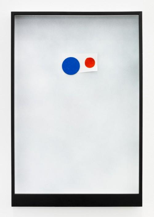 »Page 16 of MIRIAM & WILLIAM«, 2012<br />Mischtechnik, Collage, Magnet, 45 x 31 cm<br />