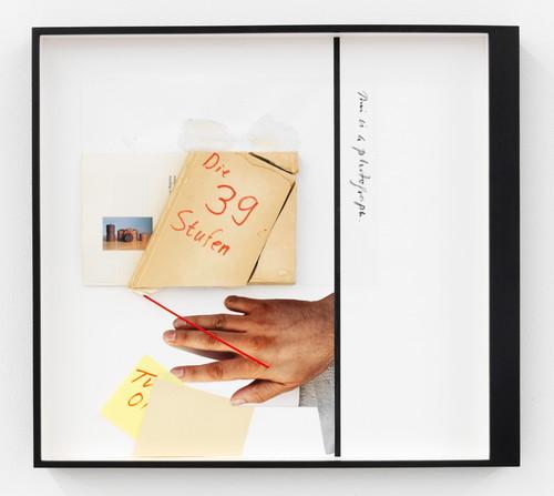 <i>Page 70 of DIE DUNKLERE MIRIAM</i>, 2012<br />Mischtechnik, collage, 43 x 48 cm<br />