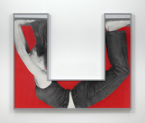 »Prahaar«, 2014<br />pencil and enamel on paper with shaped frame, 130 x 161 cm<br />