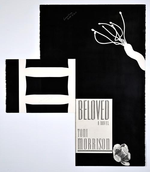 »Gemini Germ, Bullet Beloved«, 2014<br />pencil and enamel on paper (folded), 102 x 88 cm<br />