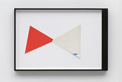 »Mathew Hale, Page 7 of DIE NEUE MIRIAM«, 2010<br />paper collage, 31 x 48 cm<br />