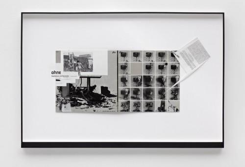 »Page 93 of MIRIAM DIVORCEE«, 2008<br />paper collage, 69 x 103 cm<br />