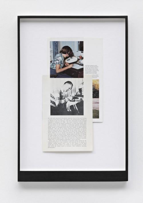»Page 195 of DIE NEUE MIRIAM«, 2008<br />paper collage, 46 x 31 cm<br />