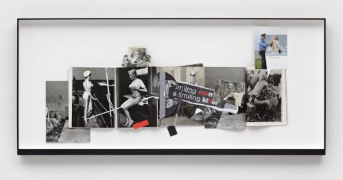 »Page 92 of DIE NEUE MIRIAM«, 2010<br />paper collage, 69 x 154 cm<br />