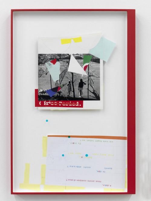 »Page 137 of DIE DUNKLERE MIRIAM (2 parts)«, 2010<br />paper collage, 2 parts (1) 69 x 154 cm / (2) 69 x 45.7 cm<br />