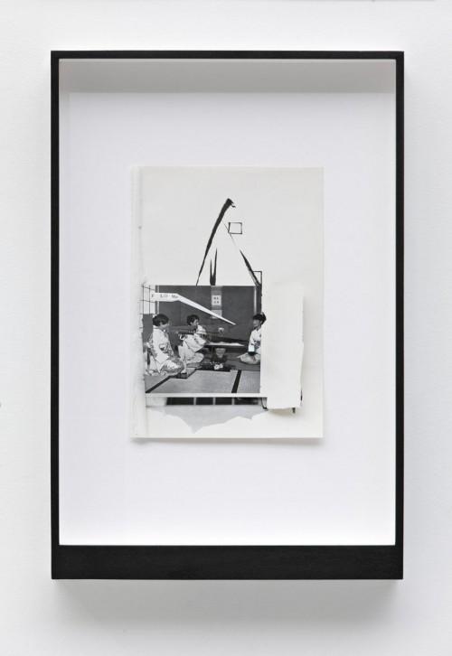 »Page 150 of MIRIAM DIVORCEE«, 2008<br />paper collage, 46 x 31 cm<br />