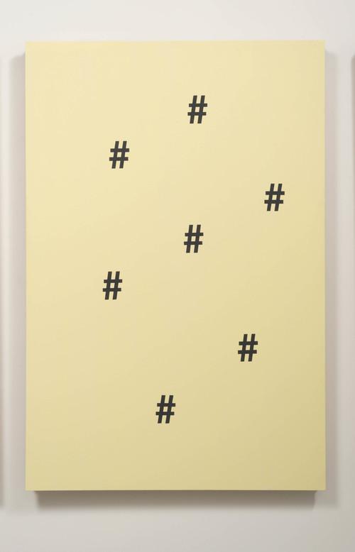 GABRIELE DE SANTIS<br />»((#######Y«, 2014<br />single view<br />