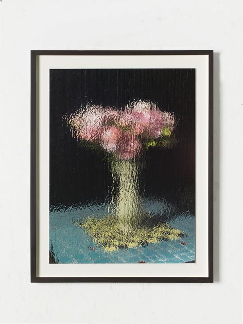 GREGOR HILDEBRANDT<br /><i>Schach und Rosen</i>, 2020<br />digital pigment print mounted on alumnium, 66 x 49.5 cm<br />